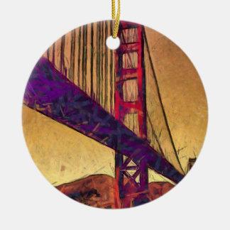 Golden gate bridge rundes keramik ornament