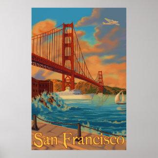Golden gate bridge - San Francisco, CA-Plakat