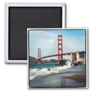 Golden gate bridge San Francisco CA Quadratischer Magnet