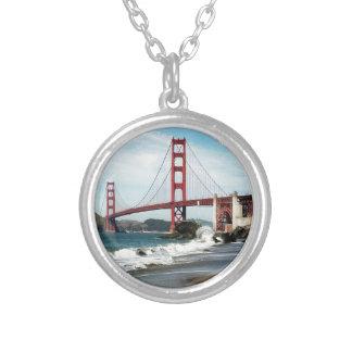 Golden gate bridge San Francisco CA Versilberte Kette
