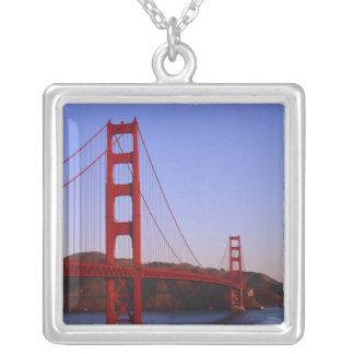 Golden gate bridge, San Francisco, Kalifornien, 2 Versilberte Kette