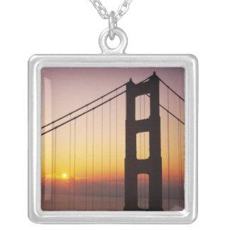 Golden gate bridge, San Francisco, Kalifornien, 3 Versilberte Kette