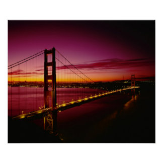 Golden gate bridge, San Francisco, Kalifornien, 5 Poster