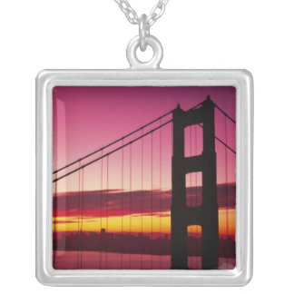 Golden gate bridge, San Francisco, Kalifornien, 6 Versilberte Kette