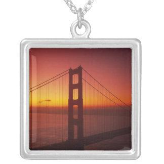 Golden gate bridge, San Francisco, Kalifornien, 9 Versilberte Kette