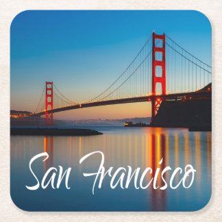 Golden gate bridge, San Francisco, Kalifornien, Rechteckiger Pappuntersetzer