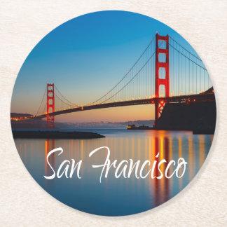 Golden gate bridge, San Francisco, Kalifornien, Runder Pappuntersetzer