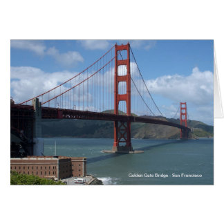 Golden gate bridge San Francisco Karte
