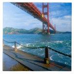 Golden gate bridge und San Francisco Bay 2 Große Quadratische Fliese