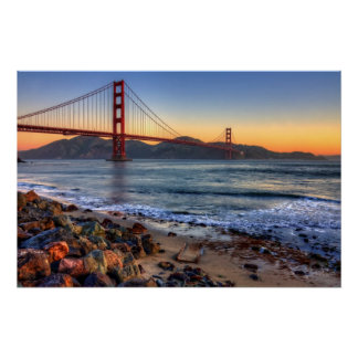 Golden gate bridge von San- Francisco Bayspur Poster