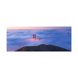 Golden Gate im Nebel Leinwanddruck