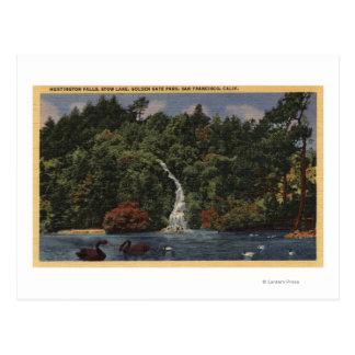 Golden Gate Park, Fälle des Stow See-, Huntington Postkarte