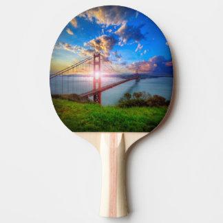 Golden Gate-Sonnenaufgang Tischtennis Schläger