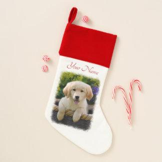 Golden retriever-Baby-Hundewelpen-lustiger Weihnachtsstrumpf