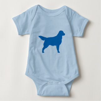 Golden retriever (blau) baby strampler