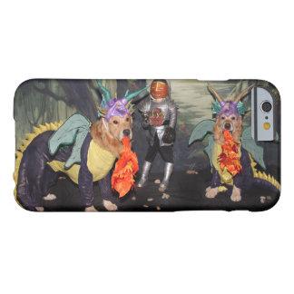 Golden retriever-Drachen, die einen Ritter kämpfen Barely There iPhone 6 Hülle