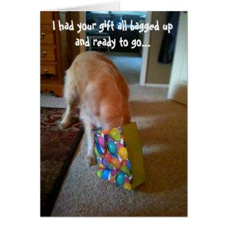 Golden retriever-Geburtstags-Karte Karte