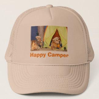 Golden retriever-glückliche Menschen Truckerkappe