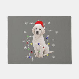 Golden retriever-Hündchen-Feiertags-Weihnachten Türmatte