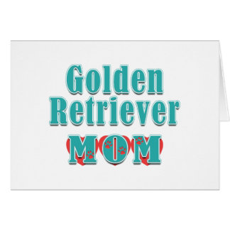 Golden retriever-Mamma-Herzen Karte