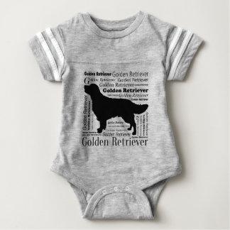 Golden Retriever Silhouette Baby Strampler