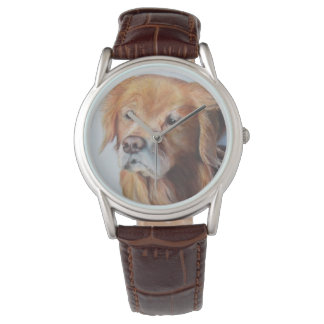 Golden retriever-Uhr! Uhr