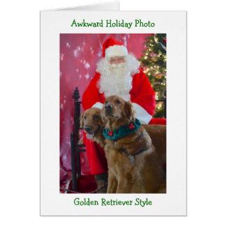 Golden retriever-ungeschickte Weihnachtskarte Karte