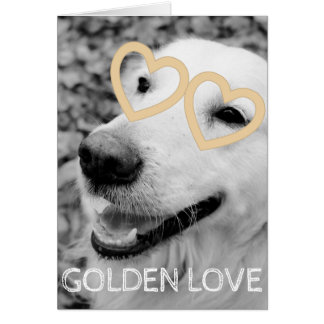 Golden retriever VALENTINSGRUSS Grußkarte
