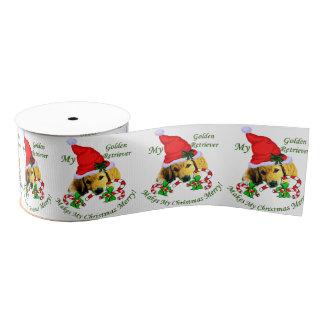 Golden retriever-Welpen-Weihnachten Ripsband