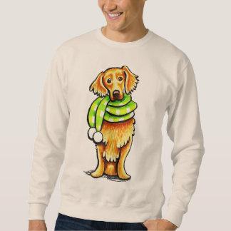 Golden retriever-Winter-Schal Sweatshirt