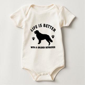 golden retrieverhundeentwurf baby strampler