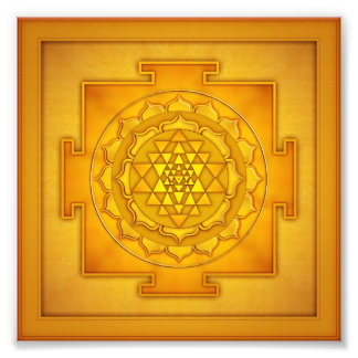 Golden Sri Yantra - Artwork II Fotografie