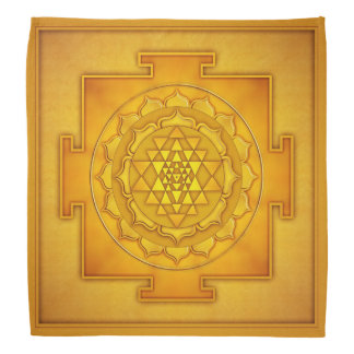 Golden Sri Yantra - Artwork II Kopftücher