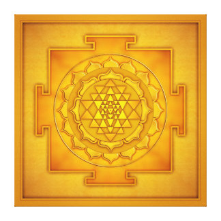 Golden Sri Yantra - Artwork II Leinwanddruck