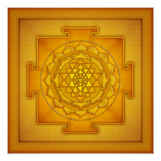 Golden Sri Yantra - Artwork II Perfektes Poster