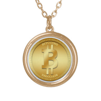 GoldendeBitcoin runde Halskette eZaZZleMan.com