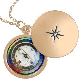 Goldendlocket-Imitat-Kompass Anhänger