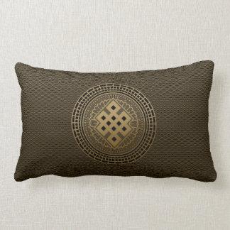 Goldendloser Knoten in der Mandala Lendenkissen