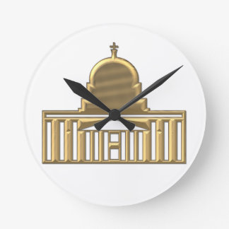 "Goldene ""3-D"" Heiliges Peters Basilika Runde Wanduhr"