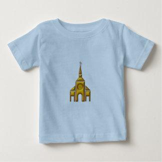 "Goldene ""3-D"" Kathedrale Baby T-shirt"