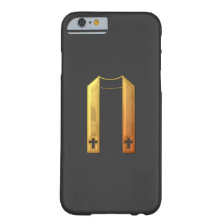 """Goldene """"3-D"""" liturgische Stola Barely There iPhone 6 Hülle"""