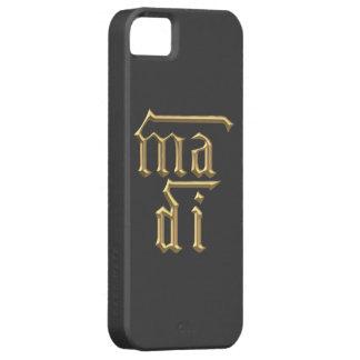 """Goldene """"3-D"""" Mutter des Symbols des Gott-(MA-Di) Etui Fürs iPhone 5"""