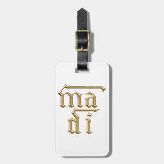 """Goldene """"3-D"""" Mutter des Symbols des Gott-(MA-Di) Gepäckanhänger"""