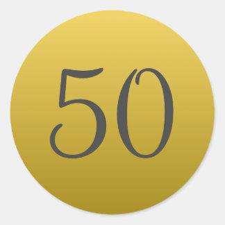 Goldene 50. Hochzeits-Jahrestags-Party-Aufkleber Runder Aufkleber