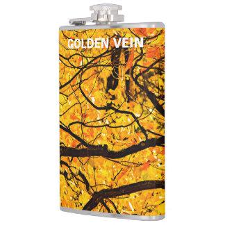 Goldene Adern des Herbstes Flachmann