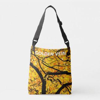 Goldene Adern des Herbstes Tragetaschen Mit Langen Trägern