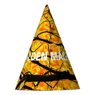 Goldene Adern von Herbst-Magie Partyhütchen