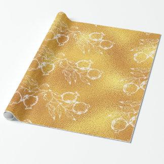 Goldene Beschaffenheits-festliches Geschenkpapier