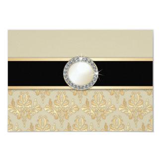 Goldene Birne u. Diamant-Brosche UAWG Karte des 8,9 X 12,7 Cm Einladungskarte