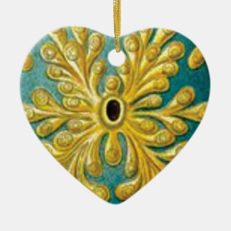 goldene Blätterabdeckung Keramik Ornament